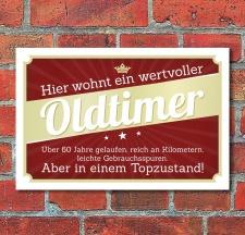 Schild Retro Vintage Geburtstag Geschenk Oldtimer 60 60er...
