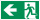 PVC Werbebanner Banner Plane Festival Bauzaunplane Notausgang Links Piktogramm 2200 x 1100 mm