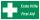 PVC Werbebanner Banner Plane Festival Bauzaunplane Erste Hilfe Notausgang 2200 x 1100 mm