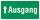 PVC Werbebanner Banner Plane Festival Bauzaunbanner Ausgang Geradeaus Notausgang 2200 x 1100 mm