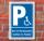 Schild Behinderten Parkplatz Rollstuhl Fahrer Parkverbot Parkausweis Alu-Verbund 300 x 200 mm