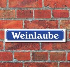 Schild im Straßenschild Design Weinlaube 52 x 11 cm...