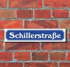 Schild im Straßenschild Design Schillerstraße...