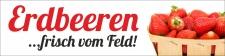 """PVC Werbebanner Banner Plane """"Erdbeeren"""" mit..."""