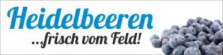 """PVC Werbebanner Banner Plane """"Heidelbeeren"""" mit Ösen"""