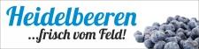 """PVC Werbebanner Banner Plane """"Heidelbeeren"""" mit..."""