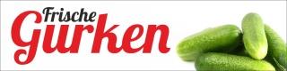 """PVC Werbebanner Banner Plane """"Gurken"""" mit Ösen"""