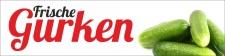 """PVC Werbebanner Banner Plane """"Gurken"""" mit..."""