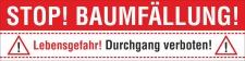PVC Werbebanner Banner Plane Baumfällung...