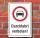 Schild Durchfahrt verboten Auto PKW Hinweisschild Verbotsschild 3 mm Alu-Verbund