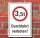 Schild Durchfahrt verboten LKW 3,5 t Verbotsschild 3 mm Alu-Verbund
