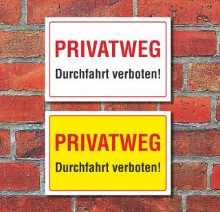Schild Durchfahrt verboten Hinweisschild Verbotsschild 3 mm Alu-Verbund