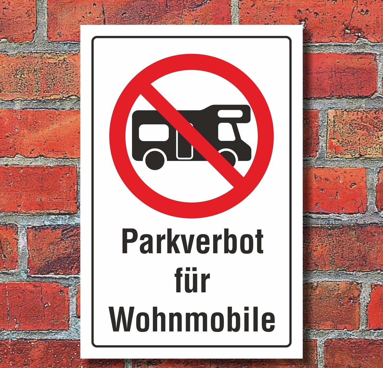 schild parkverbot wohnmobile parken verboten halteverbot 3. Black Bedroom Furniture Sets. Home Design Ideas