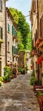 Türtapete Gasse Altstadt Rustikal Frankreich selbstklebend 2050 x 880 mm