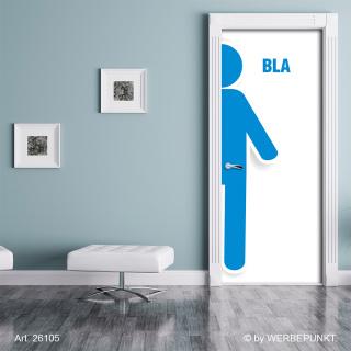 Türtapete Toilette Männer Herren WC Bla selbstklebend 2050 x 880 mm