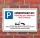 Schild Parkplatzschild Parkverbot Parken Kundenparkplatz Einkauf Alu-Verbund