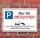 Schild Parkplatzschild Parkverbot Parken Nur für Besucher 3 mm Alu-Verbund