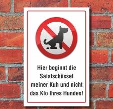 Schild Kein Hundeklo Hundekot, Wiese Weide...