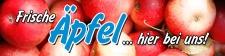 PVC Werbebanner Banner Plane Frische Äpfel mit...