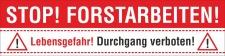 PVC Werbebanner Banner Plane Stop Forstarbeiten...