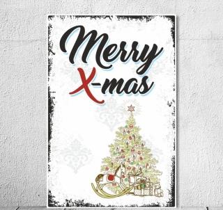 "Schild Vintage Shabby Nostalgie Holzschild ""Merry Christmas"" Weihnachten xmas"