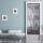 Türtapete Türposter Holztür, alt, rustikal weiß selbstklebend 2050 x 880 mm