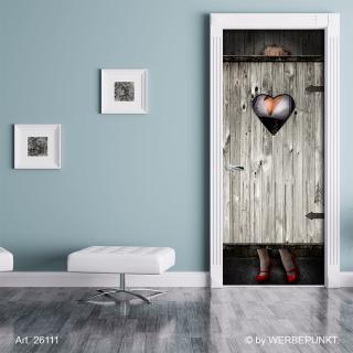 Türtapete Toilette Frau Oktoberfest Klo Türposter, selbstklebend 2050 x 880 mm