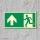 Geradeaus Fluchtwegschild Rettungswegschild Aufkleber Nachleuchtend ASR A1.3
