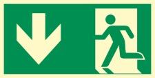 Richtungspfeil Fluchtwegschild Rettungswegschild Aufkleber Nachleuchtend ASR A1.3