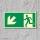 Links abwärts Fluchtwegschild Rettungswegschild Aufkleber Nachleuchtend ASR A1.3