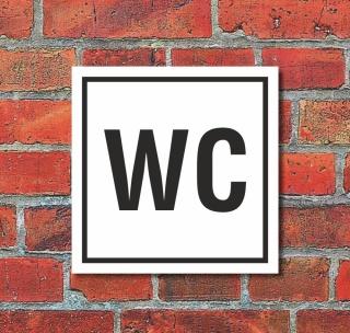 Schild WC Toilette Klo Herren Damen Türschild 200 x 200 mm Alu-Verbund
