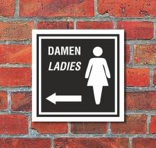 Schild WC Toilette Klo Damen Pfeil links Türschild...