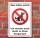 Hunde, Hundeschild, Hier bitte nicht, Schild Hund, 3 mm Alu-Verbund