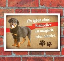 Schild Vintage Retro Deko Geschenk Ein Leben ohne...