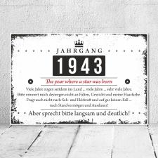 Holzschild Retro Vintage Geburtstag 80 80er achtzig...