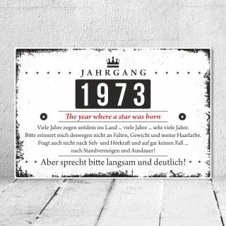 Holzschild Retro Vintage Geburtstag 50 50er fünfzig Jahrgang 1971 Geschenk