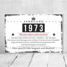 Holzschild Retro Vintage Geburtstag 50 50er fünfzig...
