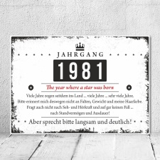 Holzschild Retro Vintage Geburtstag 40 40er vierzig...