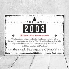 Holzschild Retro Vintage Geburtstag 20 20er zwanzig...