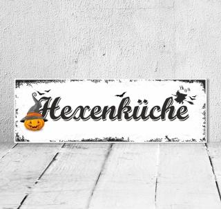 Schild Vintage Shabby Holzschild Dekoschild Geschenk Hexenküche Türschild