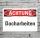Schild Achtung Dacharbeiten Gefahrschild Hinweisschild 3 mm Alu-Verbund
