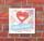 Schild Bitte lächeln Smiley Herz Geschenk Türschild 200 x 200 mm Alu-Verbund