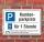 Schild Kundenparkplatz Privatparkplatz Parkscheibe 1 Stunde 3 mm Alu-Verbund