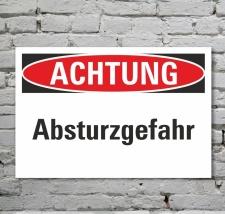 Schild Achtung Absturzgefahr Gefahrenschild Hinweisschild...
