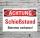 Schild Achtung Schießstand Betreten verboten Hinweisschild 3 mm Alu-Verbund