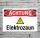 Schild Achtung Elektrozaun Strom Gefahrschild Hinweisschild 3 mm Alu-Verbund