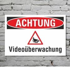 Schild Achtung Videoüberwachung Kamera...