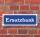 """Schild im Straßenschild-Design """"Ersatzbank"""" 30 x10 cm Alu-Verbund"""