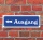 """Schild im Straßenschild-Design """"Ausgang links"""" 30 x10 cm Alu-Verbund"""