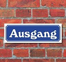 """Schild im Straßenschild-Design """"Ausgang""""..."""